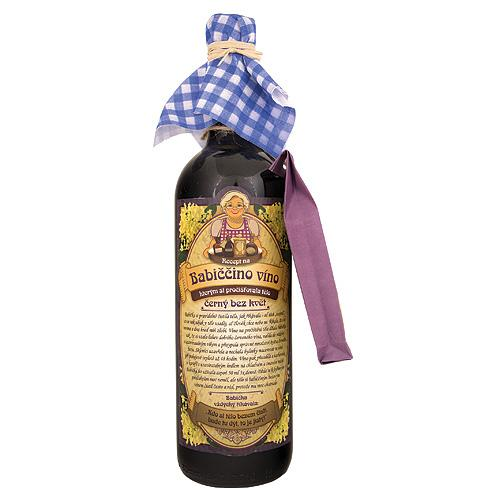 Babičkino víno k macerácií 0,75l - Čierna baza, kvet