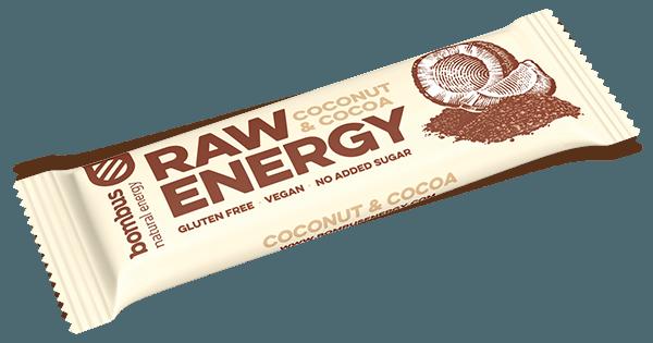 Tyčinka Bombus RAW ENERGY kokos 50g