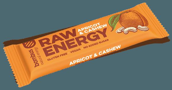 Tyčinka Bombus RAW ENERGY marhuľa-kešu 50g