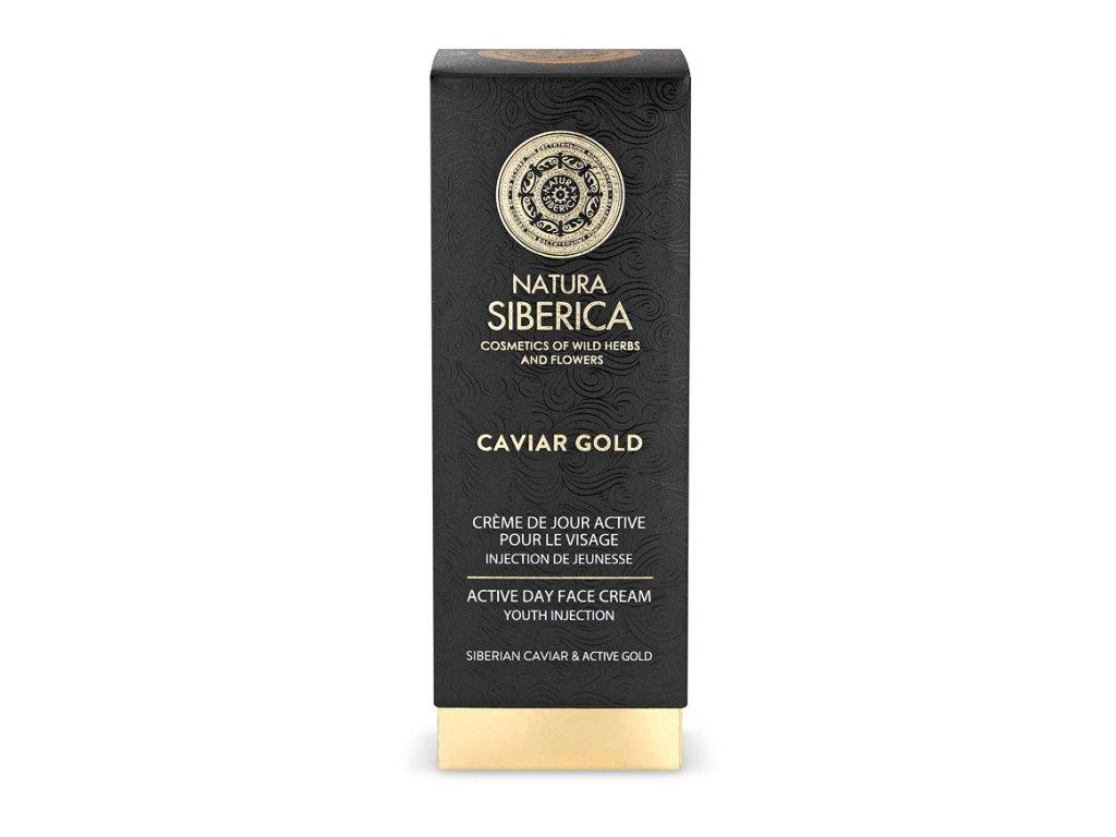 Natura Siberica Caviar Gold - Aktívny denný krém na tvár Injekcia mladosti 30 ml