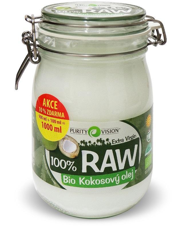 RAW kokosový olej 900 ml + 100 ml
