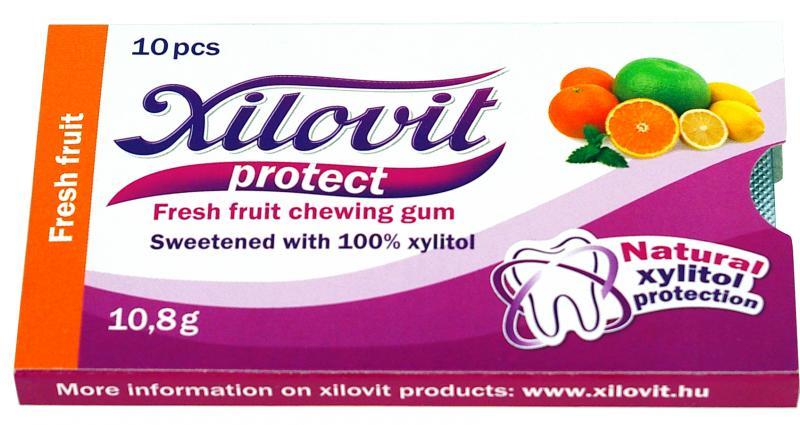 Žuvačky Xilovit citrusové plody 10,8 g