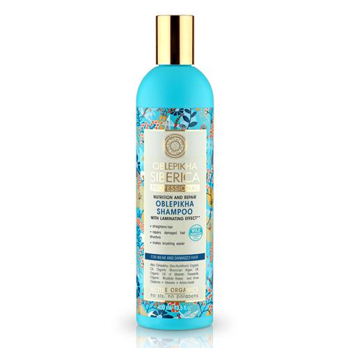Natura Siberica Rakytníkový šampón pre slabé a poškodené vlasy - Efekt  400 ml