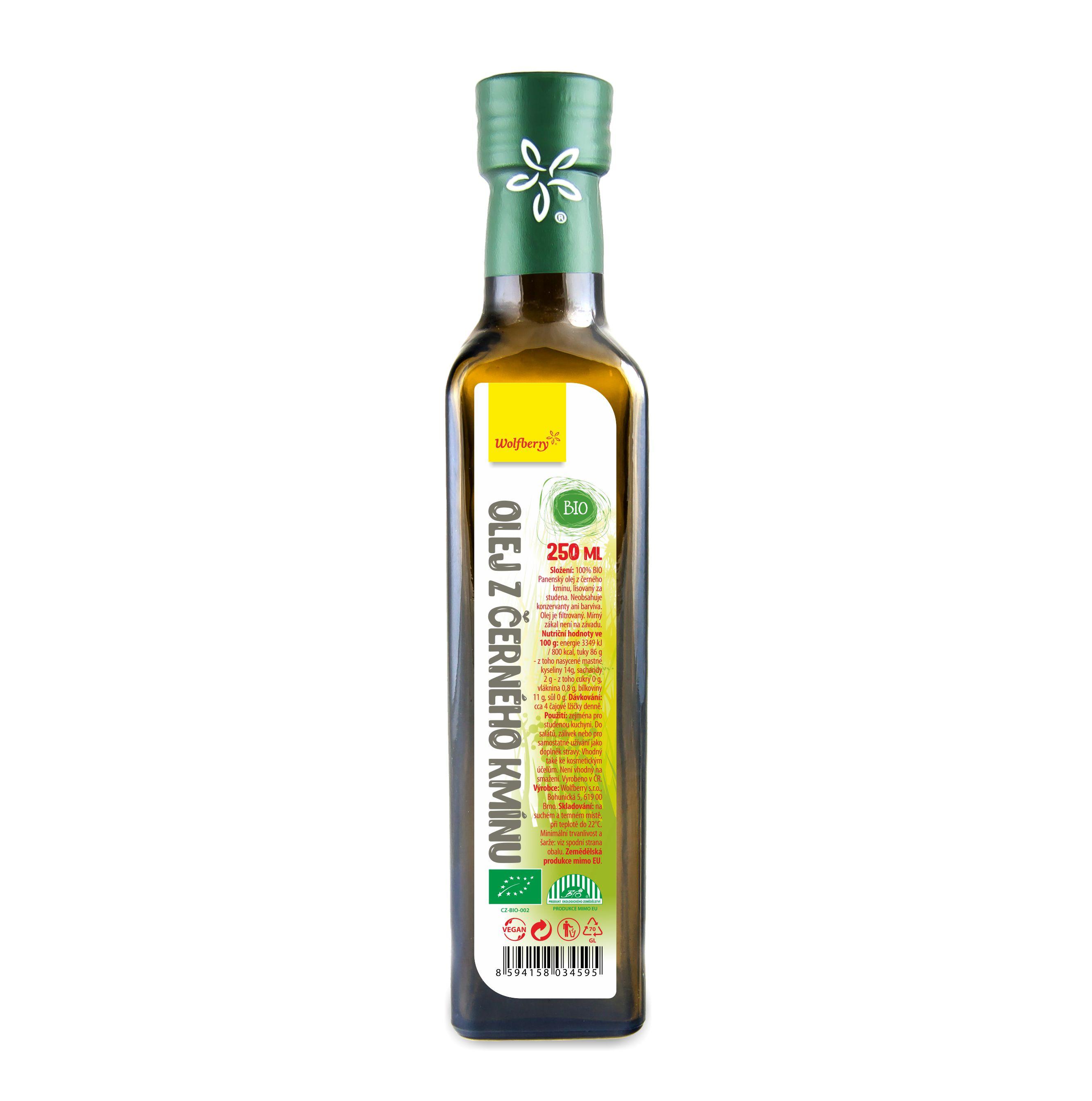 Wolfberry Olej z čiernej rasce BIO 250 ml Wolfberry * 250ml