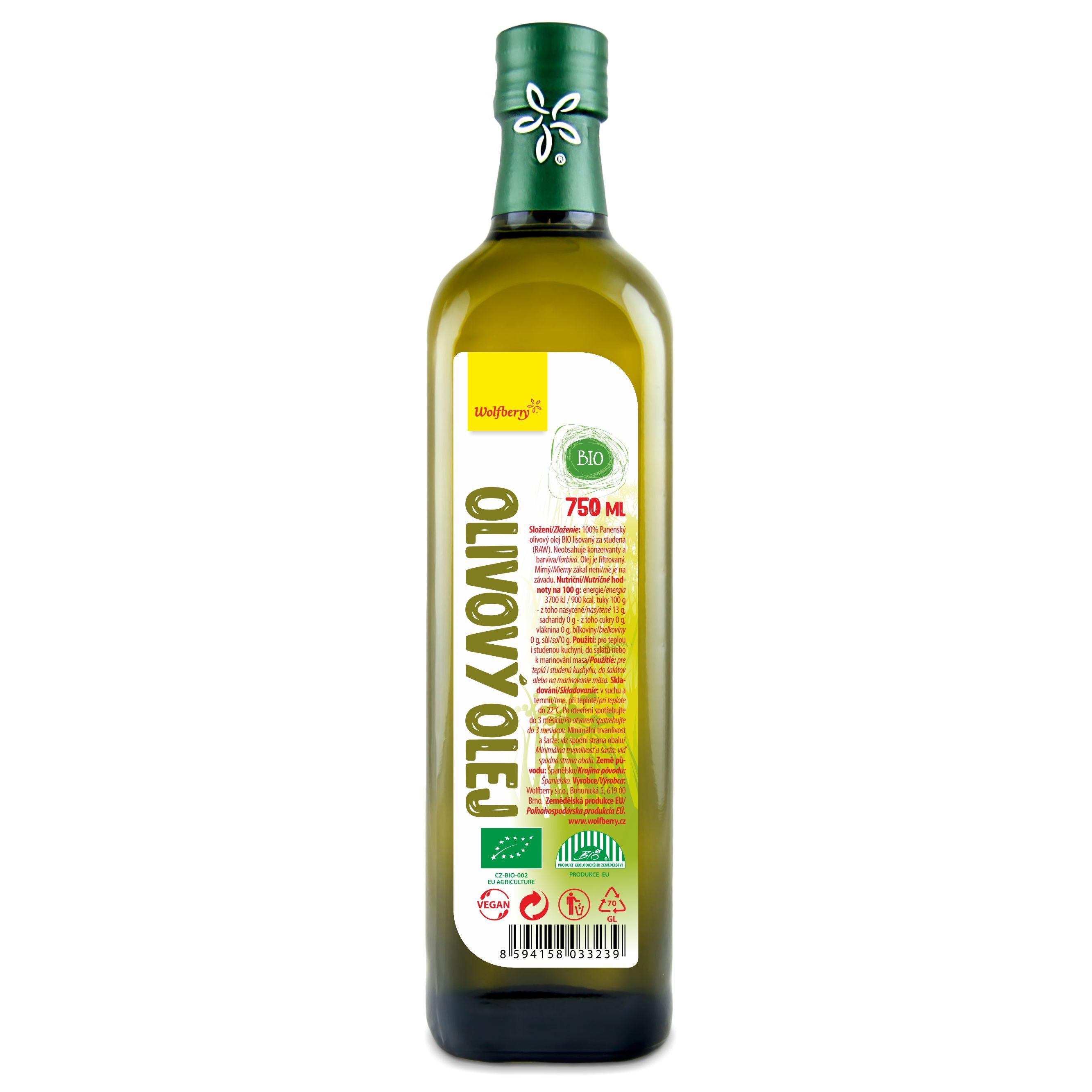Wolfberry Olivový olej panenský BIO 750 ml Wolfberry * 750ml