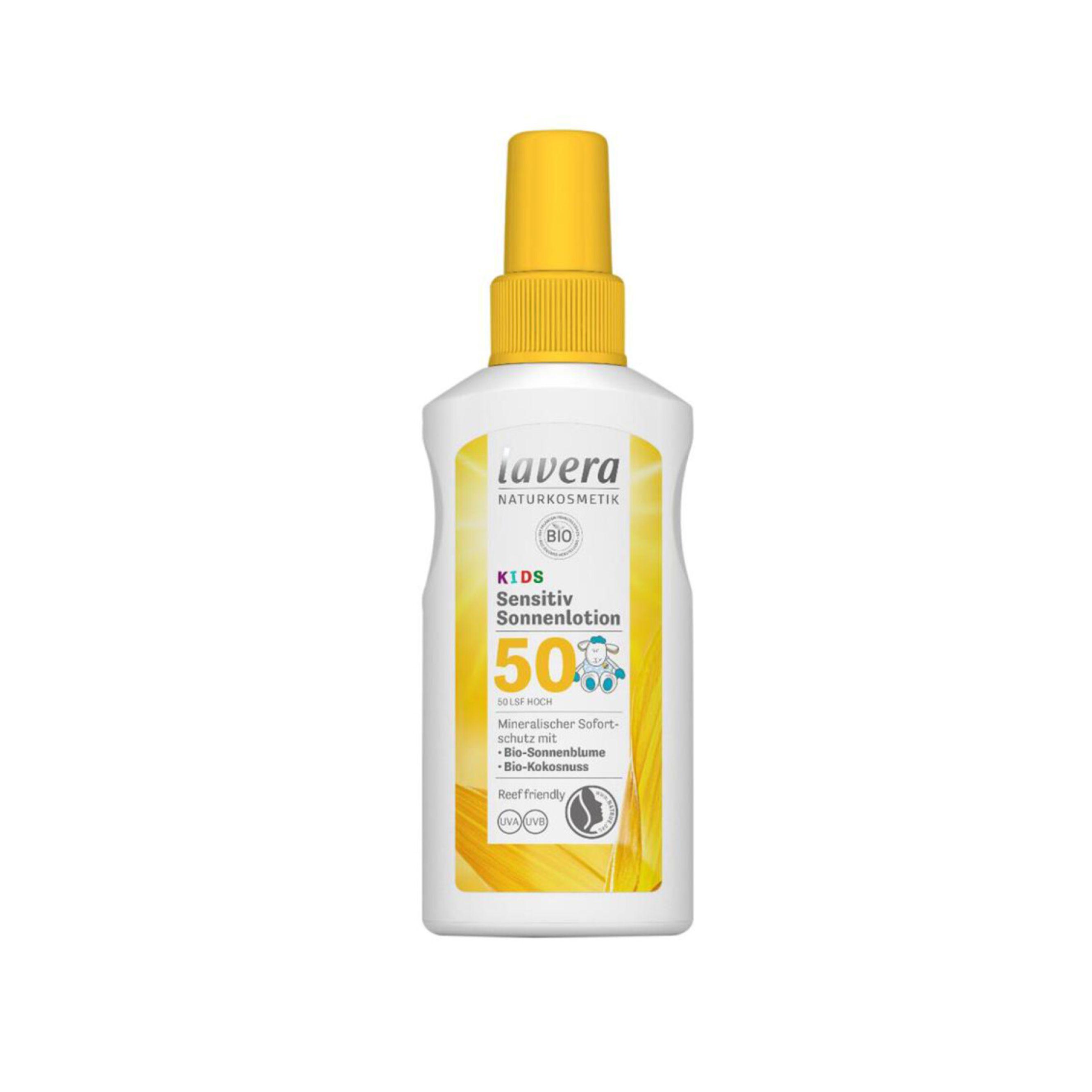 Opaľovacie mlieko SPF 50 BIO pre deti 100 ml Lavera