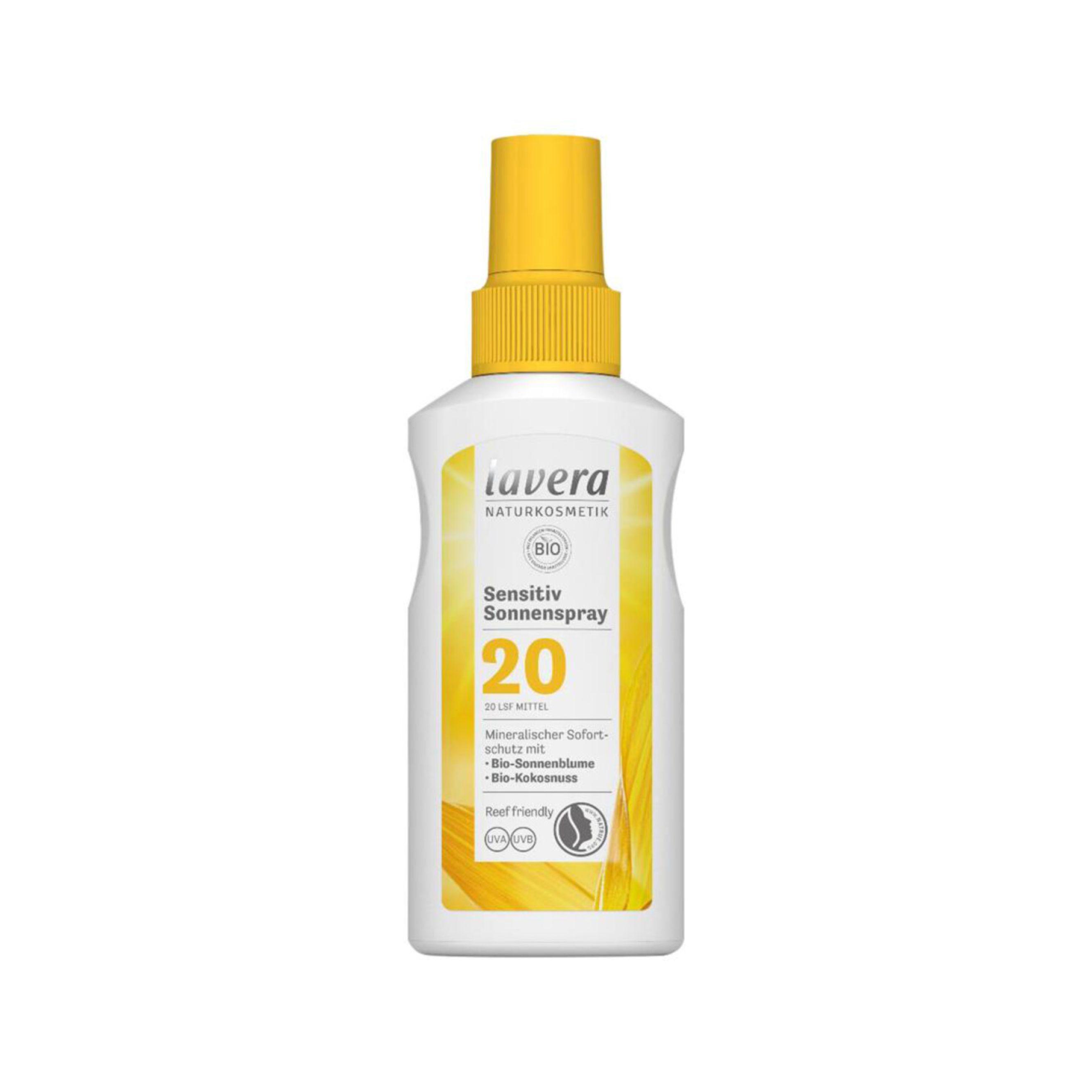 Opaľovací sprej Sensitiv SPF 20 BIO 100 ml Lavera