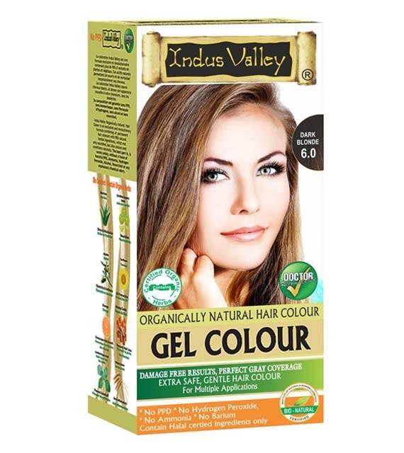 Gélová farba na vlasy Tmavá Blond 6.0