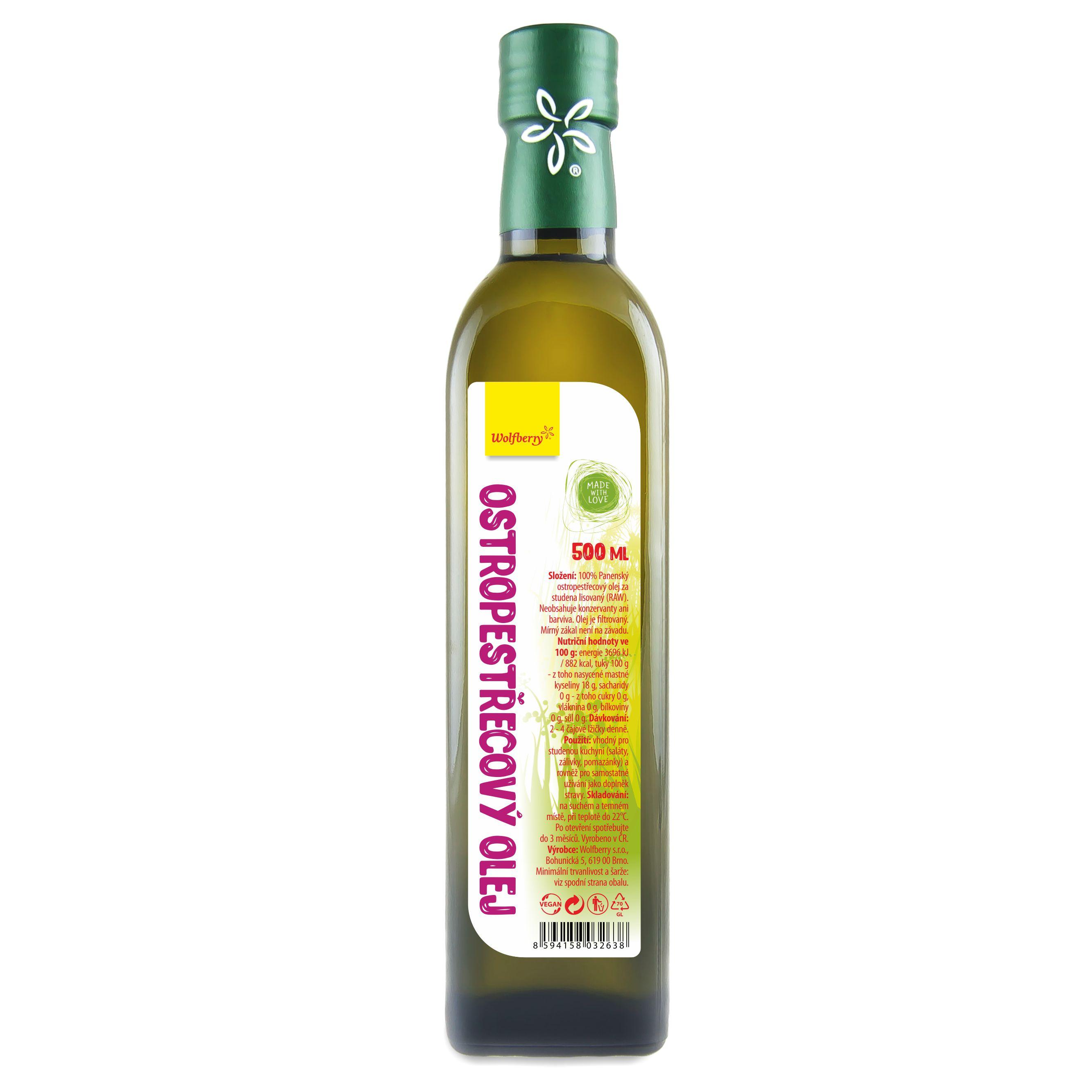 Wolfberry Ostropestrecový olej 500 ml Wolfberry 500ml