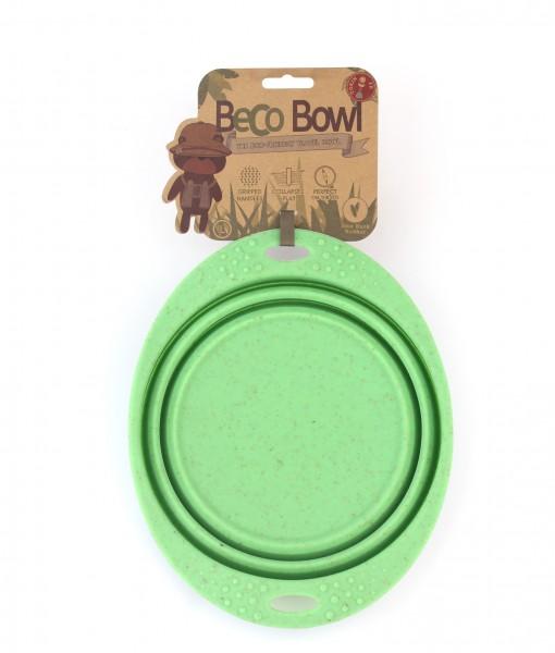 BeCoThings Miska pre psa, cestovná, BecoBowl Travel-green L, EKO 1 ks