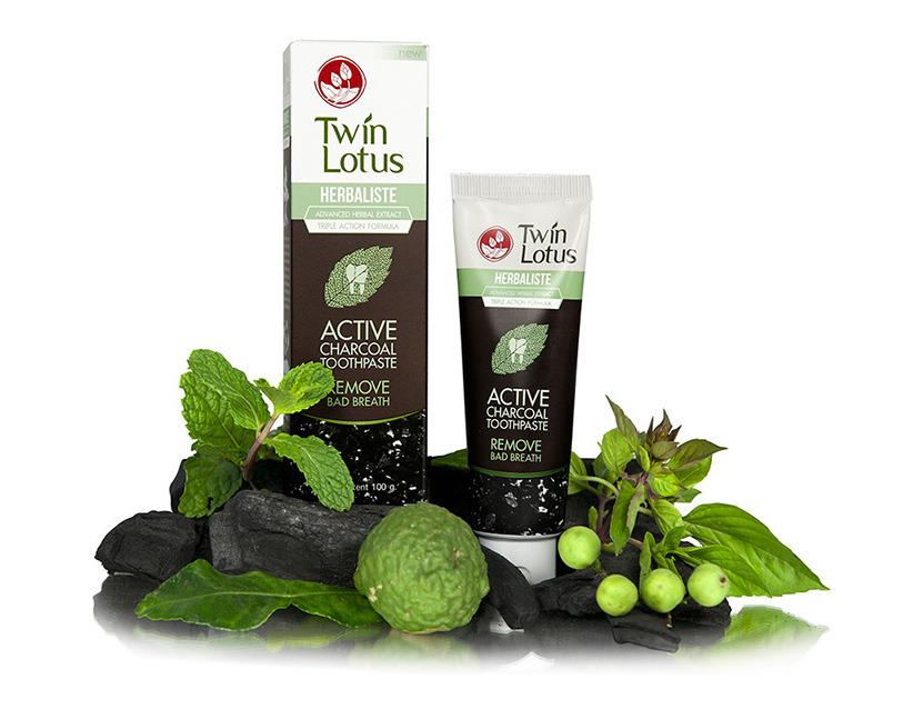 Zubná pasta Twin Lotus Herbaliste Active Charcoal 150ml
