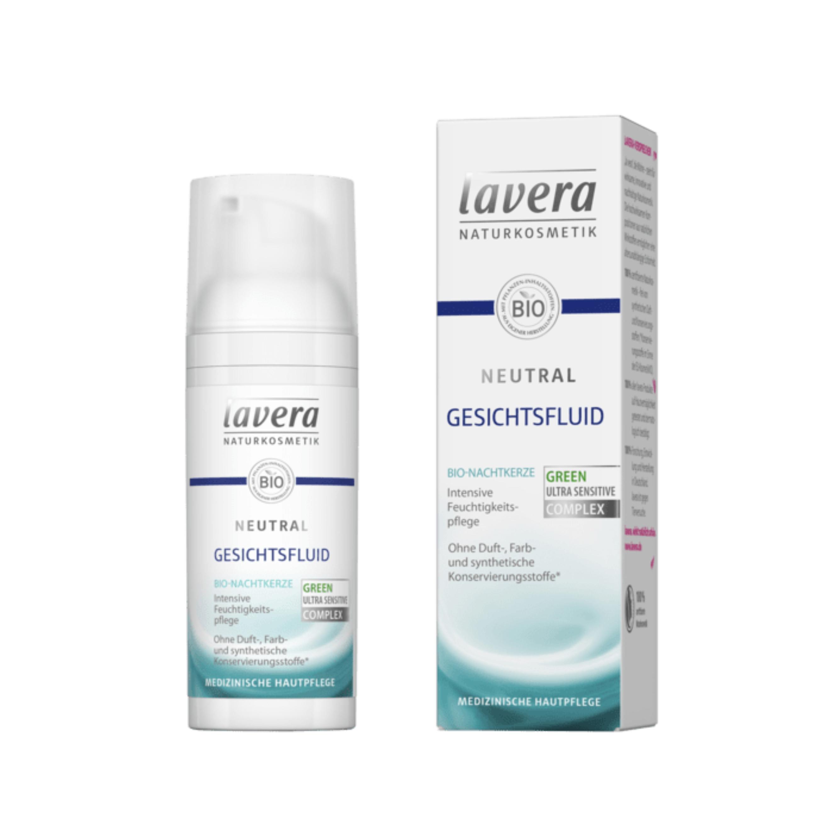 Prírodné hydratačný fluid Neutral 50 ml Lavera
