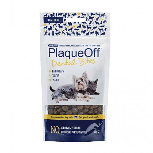 PlaqueOff Doplnok výživy pre psy a mačky, ProDen PlaqueOff Dental Bites 60g 60 g