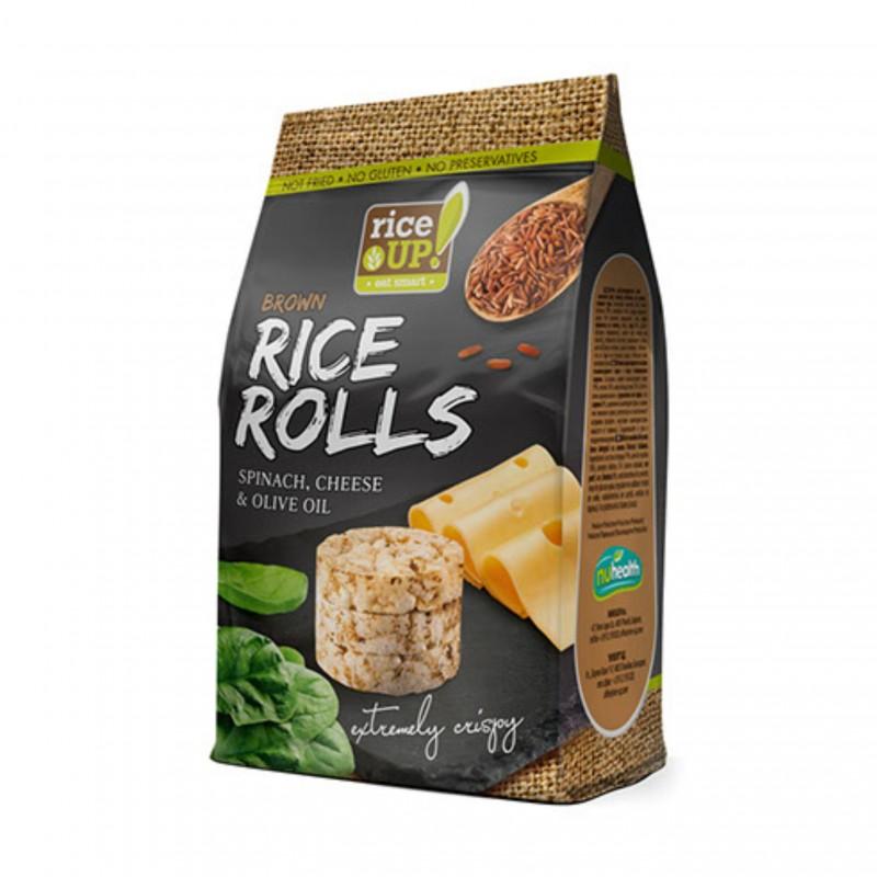Ryžové minichlebíčky špenát, syr, olivový olej 50 g Rice Up