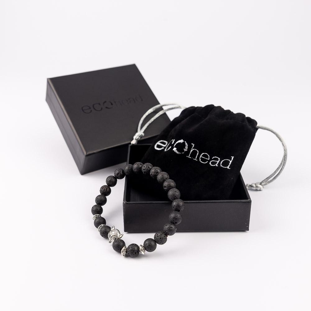 Ecohead Náramok - Silver Fox s krabičkou gift box