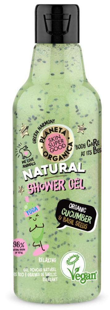 Planeta Organica – prírodný sprchový gél - uhorka a bazalkové semienka
