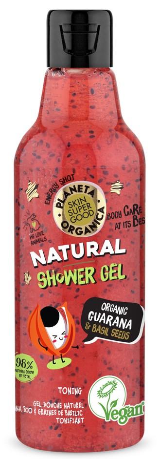 Planeta Organica – prírodný sprchový gél - guarana a bazalkové semienka