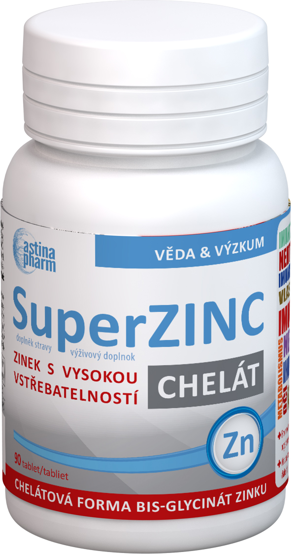 Astina Super ZInc chelát 90 tbl