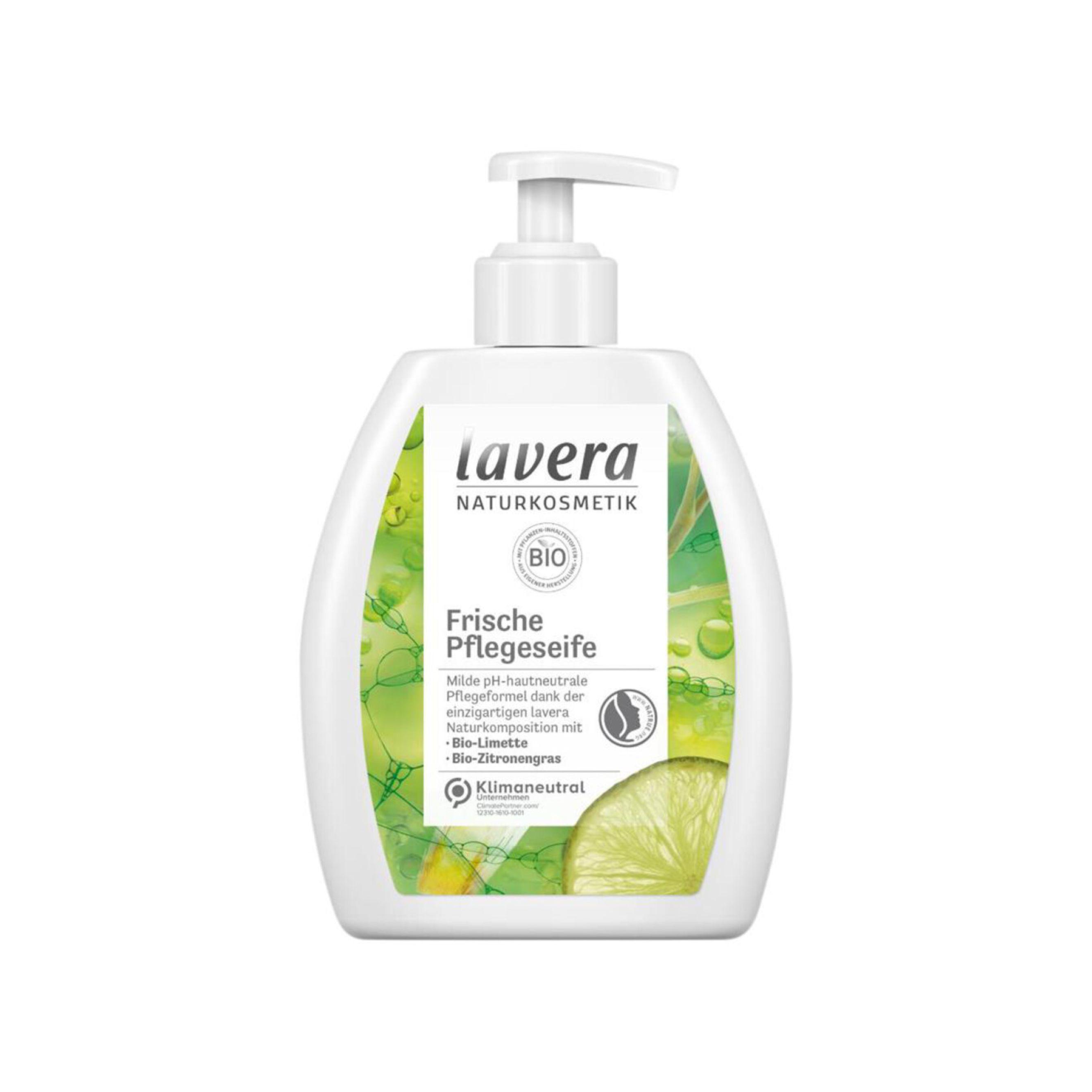 Tekuté mydlo Frische Pflegeseife - Limetka a citrónová tráva BIO 250 ml Lavera