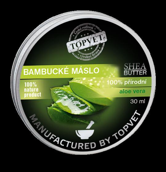 TOPVET Bambucké maslo (shea butter) s aloe vera 30ml 30 ml