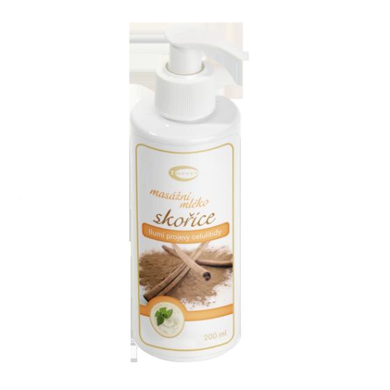 Škoricové masážne mlieko 200ml