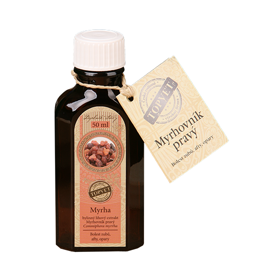 TOPVET Myrha tinktúra - kvapky 50ml 50 ml