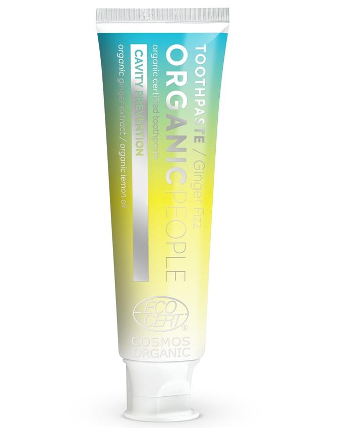 Organic People - Zubná pasta - Šumivý zázvor