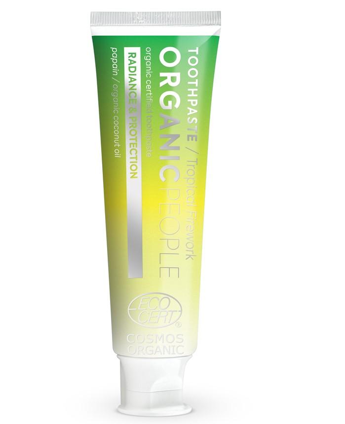 Organic People - Zubná pasta - Tropický ohňostroj