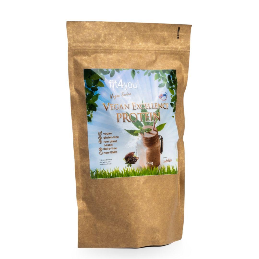 Fit4you Vegan Excellence Protein 510g Čokoláda