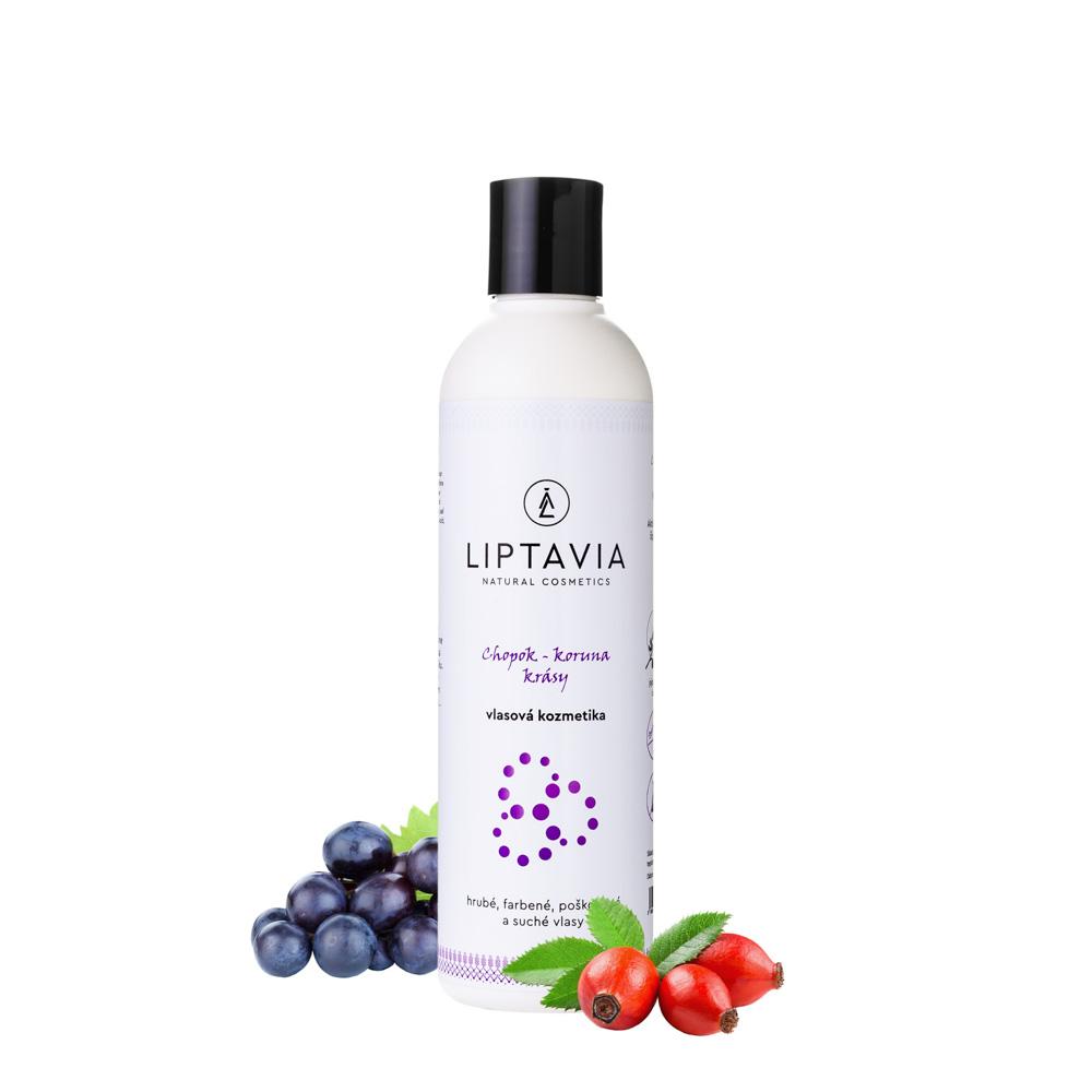 Liptavia Chopok - Koruna Krásy- šampón pre hrubé farbené poškodené vlasy 250ml