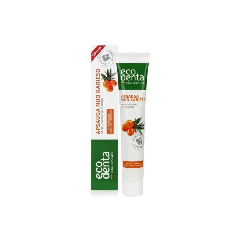 Ecodenta Basic zubná pasta proti kazu s rakytníkovým olejom 75 ml 75 ml