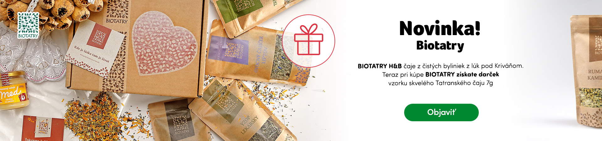 Novinka Biotatry plus darček