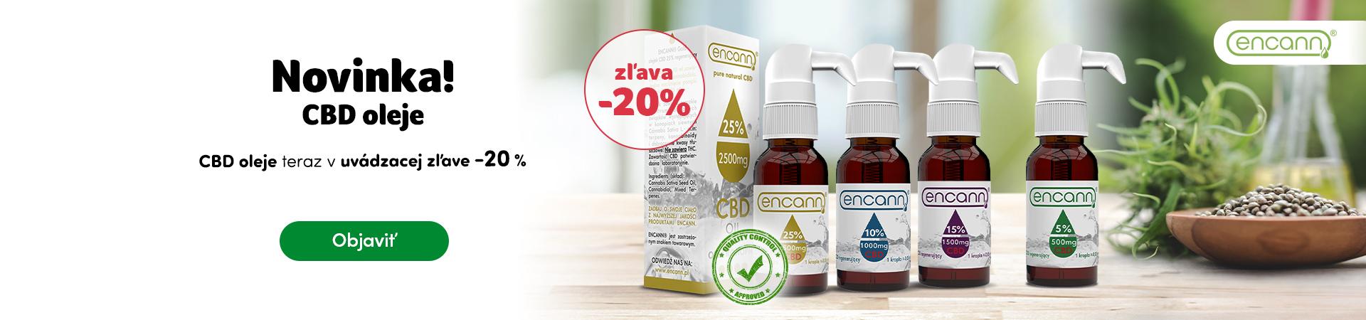 CBD oleje Encann