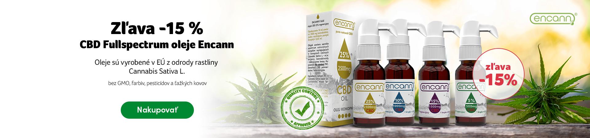 CBD oleje zľava -15%