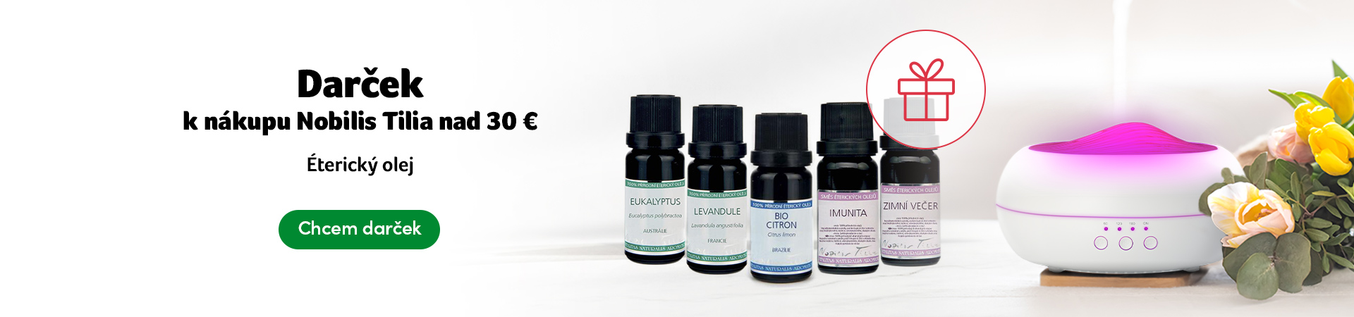 Darček - Nobilis Tilia nad 30 eur - éterický olej
