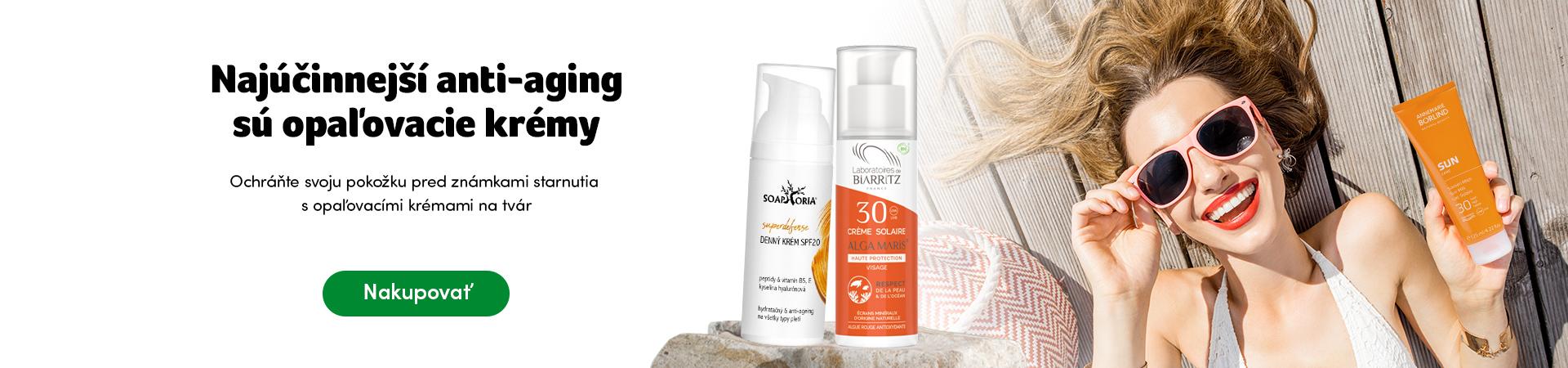 Najúčinnejší anti-aging sú opaľovacie krémy