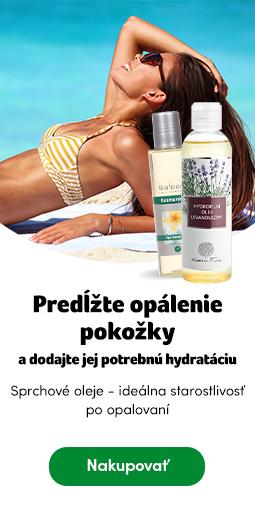 Predĺžte opálenie pokožky - sprchové oleje
