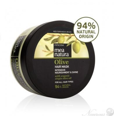 olivová maska na vlasy